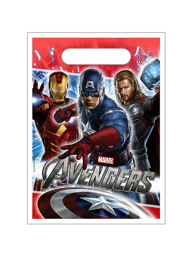 Hallmark Unisex Adult The Avengers Treat Bags Black Medium