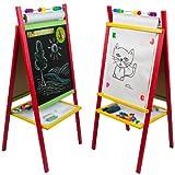 Standkindertafel 98x45cm Papierrolle Abakus Standtafel Kindertafel Magnettafel Maltafel hergestellt von toys4u