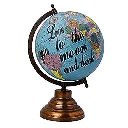 Decorative Rotating Globe World Geography Earth Blue Ocean Home Decor 12.7 \