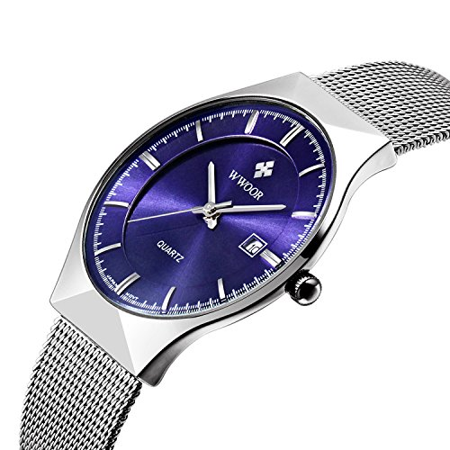 mens-elite-sport-quartz-watch-male-silver-tone-ultrathin-stainless-steel-mesh-band-watch-with-date-b