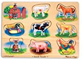 Enlarge toy image: Melissa & Doug Sound Puzzle - Farm - toddler baby activity product