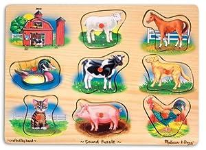 Melissa & Doug : Puzzle aus Holz - Bauernhof Klänge