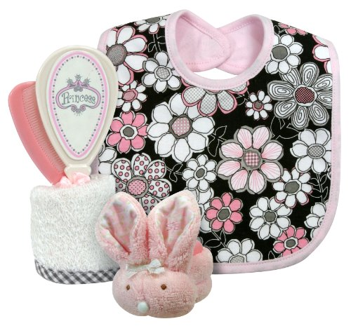 Stephan Baby 4 Piece Bathing Gift Set, Vintage Petal