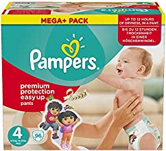 Pampers Windeln Easy up Gr. 4 Maxi 8-15 kg Mega plus Pack, 1er Pack (1 x 96 Stück)