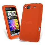 Celicious Orange Soft Silicone Skin Case for HTC Salsa HTC Salsa Case Cover