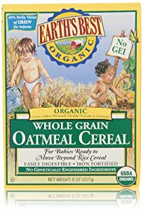 Earth's Best Organic Oatmeal Cereal, 8 Oz