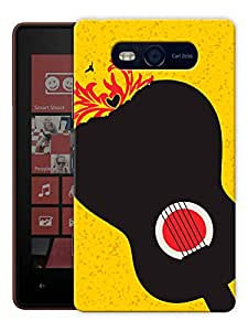 "Humor Gang Guitar Music Love Printed Designer Mobile Back Cover For ""Nokia Lumia 820"" (3D, Matte, Premium Quality Snap On Case)"