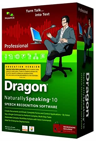 Dragon NaturallySpeaking 10 Professional - Education Version (PC DVD)