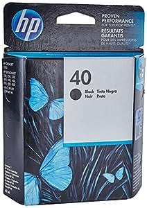 HP 40 Black Original Ink Cartridge (51640A)