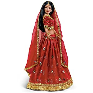 Amazon.com: Sandra Bilotto The Sparkling Radiance Hindu Bride Doll by
