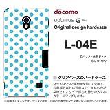 docomo Optimus G Pro L-04E ケース Optimus G Pro L-04E カバー ケース・ジャケット【白バック・水色ドット/l04e-M113W】