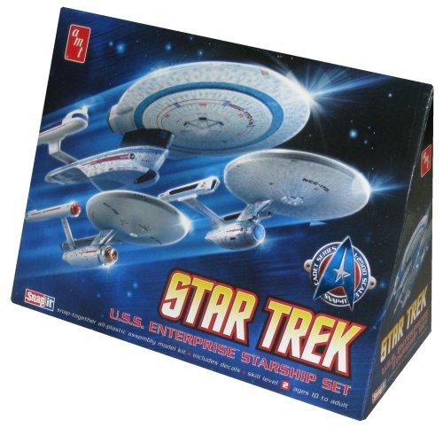 Round 2 AMT ST Enterprise Set 3 in 1 NCC1701 - 1701A - 1701B 12500