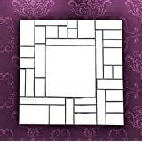 MIRALL DECOR DECORATIVE BEVELED SQUARE WALL MIRROR