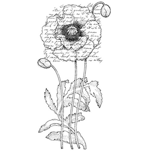Penny Black 459897 Poppy Poem Mounted Rubber Stamp, 2.25 by 4-Inch