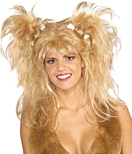 Adult's Blonde Cavewoman Halloween Costume Wig
