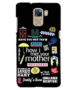 EU4IA HIMYM MATTE FINISH 3D MATTE FINISH Back Cover Case For Huawei Honor 7 -...