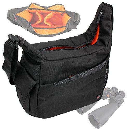 Duragadget Rugged 'Country Dweller' Shoulder Sling Carry Bag For Celestron 71009 15X70 Skymaster Porro Prism Binoculars & Celestron 71347 Outland 10X42 Roof Prism Binocular