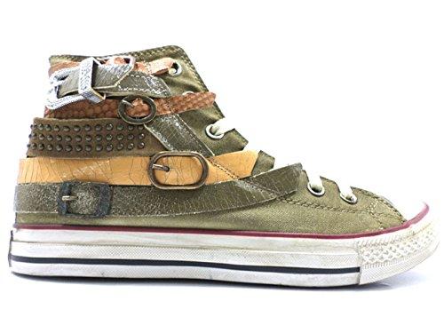 Scarpe donna HAPPINESS 40 sneakers verde pelle tessuto AV730