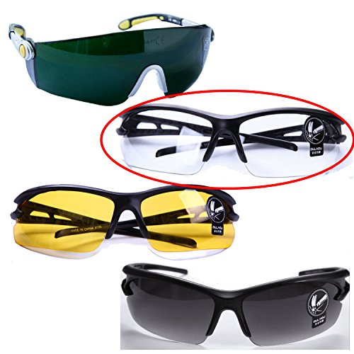 高品質 セーフティ グラス 安全メガネ PC素材 曇り止め 耐衝撃 特殊レンズ 【 クリアー 】