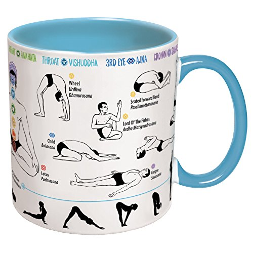 How To: Yoga Coffee Mug - Learn Yoga Poses While You Drink Your Coffee - Includes a Yoga Mat Coaster and Comes in a Fun Gift Box - by The Unemployed Philosophers Guild (Yoga Pictures compare prices)