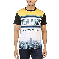 Levels Men's Cotton T-Shirt (YG-6845_Multicolor_Large)