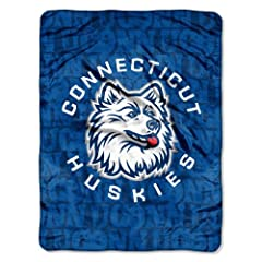 Buy NCAA Connecticut Huskies 46-Inch-by-60-Inch Micro-Raschel Blanket, Grunge Design by Northwest
