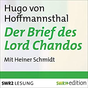 Der Brief des Lord Chandos Hörbuch