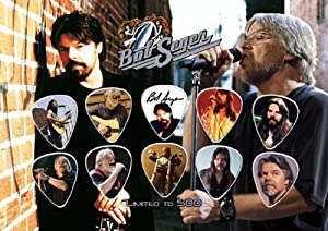Bob Seger Signed Autographed Framed & Matted 500 Limited Edition Guitar Picks Set Display