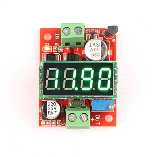 Riorand Lm2596 Dc-Dc Volt Converter 5V/12V/24V 3A Adjustable Step-Down Power Supply Module 3.2-40V To 1.23-37V With 4-Digit Voltmeter Green Led Display