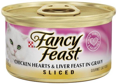 Fancy Feast Sliced Chicken Hearts & Liver Feast In Gravy