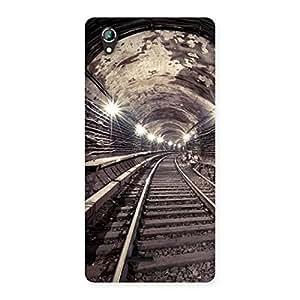 Premium Track in Tunnel Back Case Cover for Lava Iris 800