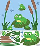 Frog Wall Decals ~Cute Frog Wall Stickers for Baby Room Walls