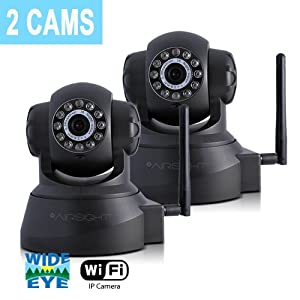 2-Pack X10 AirSight Wireless IP Camera, Network Cam Wide Angle Night Vision XX41A