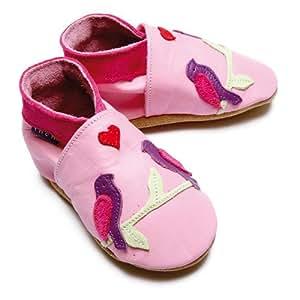 Inch Blue - 1597 M - Chaussures Bébé Souples - Lovebirds - Rose Clair - T 19-20 cm