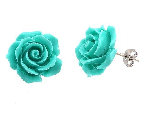 Rose Earrings Amazon Rose Flower Earrings