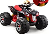 NEW UNIQUE 2014 MODEL RAPTOR 12V QUAD BIKE IN BLACK,NOW BIGGER BETTER AND STRONGER ,WITH MUSIC FUNCTION , HIGH AND LOW SPEED - COMPARE THE SIZE TO OTHERS LARGEST 12V ON AMAZON