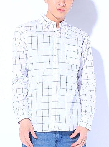 ホワイトウィンドペン M (ベストマート)BestMart コットン チェック柄 ブロードシャツ メンズ 長袖 ギンガムチェック ブロックチェック ウィンドペン シャツ ブランド ネルシャツ チェックシャツ チェック チェック柄シャツ Yシャツ ワイシャツ ドレスワイシャツ カジュアルシャツ おしゃれシャツ スリムシャツ オックスフォードシャツ 長袖シャツ シャツ長袖 シャツメンズ メンズシャツ 無地 スリム きれいめ 長そで おしゃれ 白 長そで S M L XL LL 春 夏 秋 冬 620219-005-201