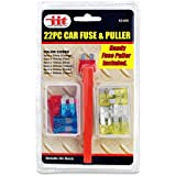 Emergency 22pc Car Fuse Replacement Kit - Free Fuse Puller Included