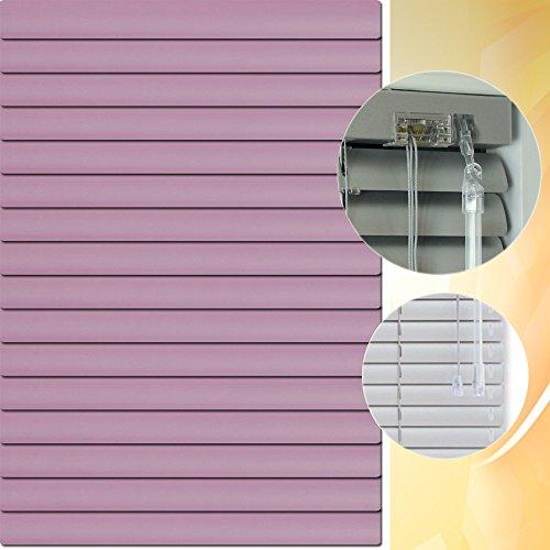 Aluminium Jalousie 205 x 190 cm (Breite x Höhe) – Lamellenfarbe 1415 pflaume // Maßanfertigung Alu Jalousien Jalousette Rollo Plissee
