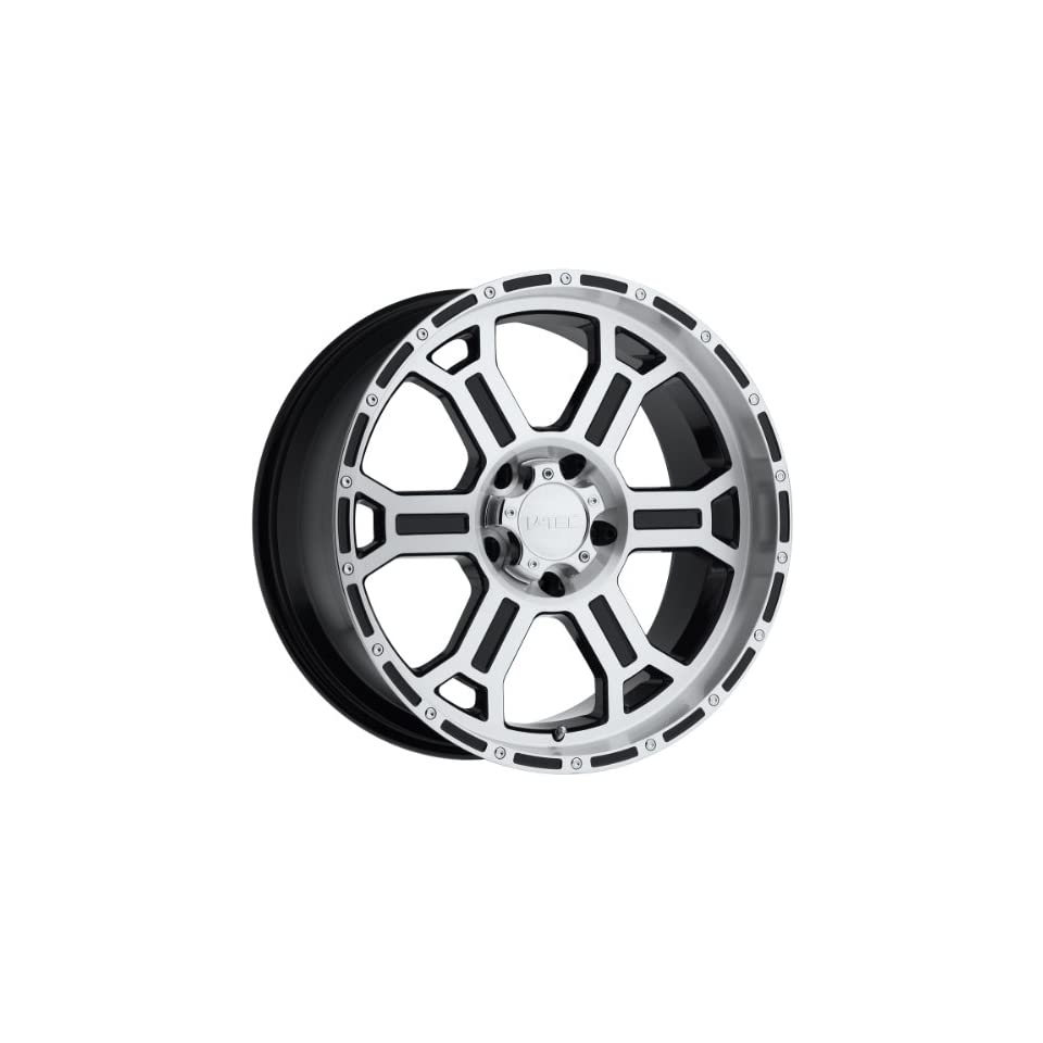 V Tec Raptor 17 Machined Black Wheel / Rim 6x135 with a 25mm Offset and a 87.1 Hub Bore. Partnumber 372 7936GBMF25