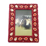 Indian Gift Picture Frame Handmade Lac Beaded Material Antique Photo Frame Home Decor Table Top Vintage Style... - B015PQYHNY