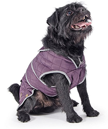 Ancol Muddy Paws Purple Quilted Dog Coat