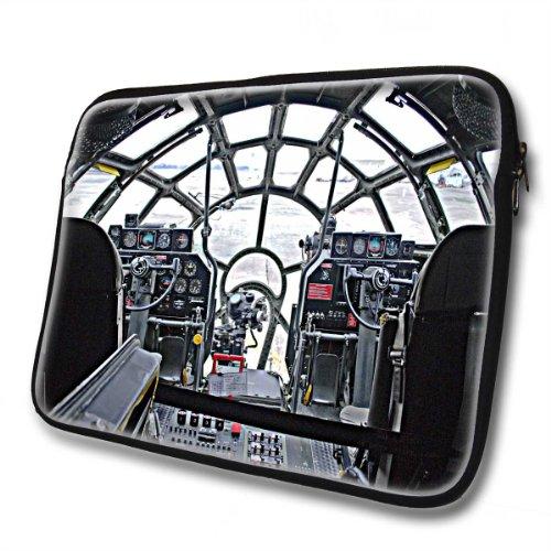 Flugzeuge 10022, Cockpit, Wasserfest Neopren Weich Zip Gehäuse Computer Sleeve Laptop Tasche Schutzhülle mit Reißverschluss und bunte Design für 14