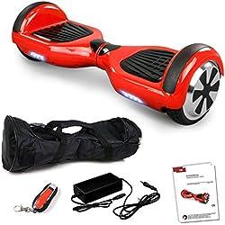 """6,5"""" Zoll Smartway Elektro Roller Skateboard Tretroller Elektroroller Driveboard (Rot)"""