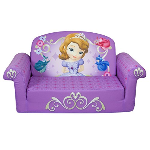 Marshmallow Children's Furniture – 2 in 1 Flip Open Sofa – Disney Princess Sofia The First image