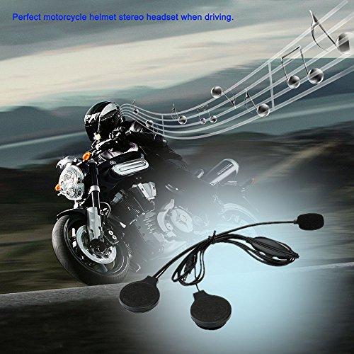 kerrone (TM) Moto Casco Cuffia Stereo Auricolari vivavoce Call Auricolari 3,5mm jack-plug microfono regolabile per iPhone Samsung HTC