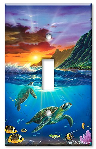 Art Plates - Sea Turtles Switch Plate - Single Toggle