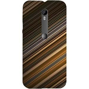 Casotec Stripes Design Hard Back Case Cover for Motorola Moto G 3rd Generation