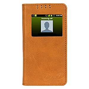 D.rD Flip Cover with screen Display Cut Outs designed for Microsoft Lumia 640