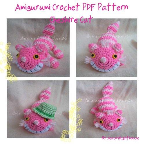 Cheshire Cat From Alice In Wonderland Amigurumi Crochet Pattern